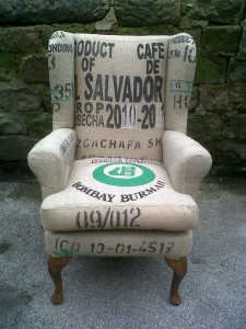 coffee bean sack chair