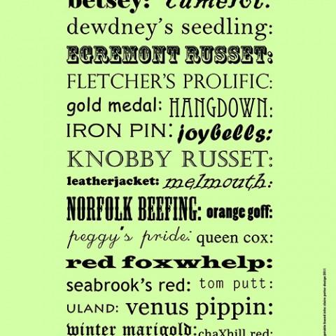 a-z british apples print