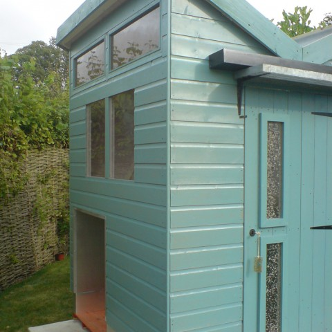 butterfly pavilion upcycled standard shed