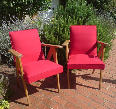 reclaimed french chairs recovered